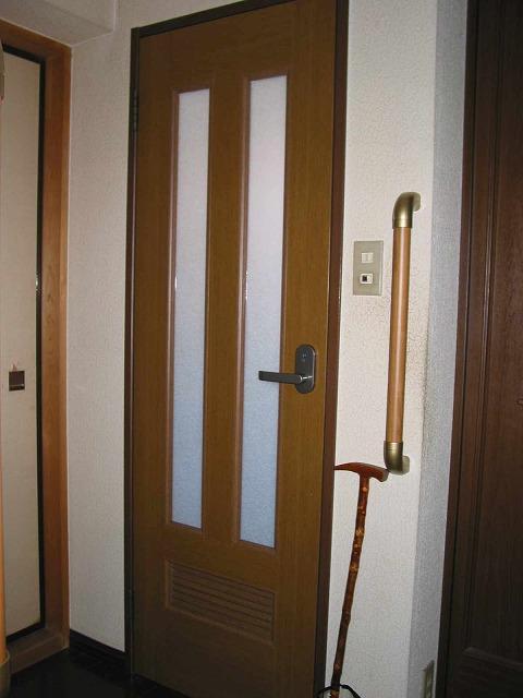 バリアフリー手すり工事ドア