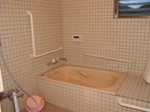 お風呂場の手摺設置工事施工後