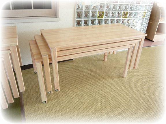 積み重ね式テーブル