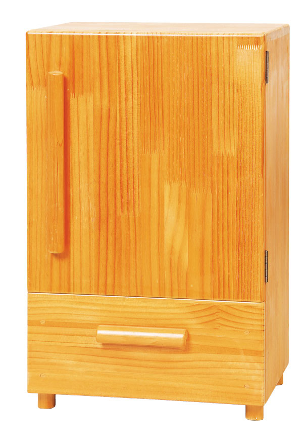 木製ままごと用冷蔵庫