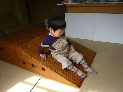 木製すべり台